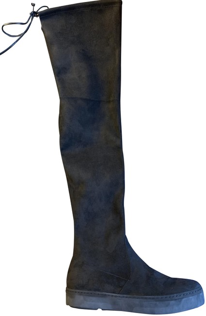 Item - Black Suede Thigh-high Boots/Booties Size US 7.5 Regular (M, B)