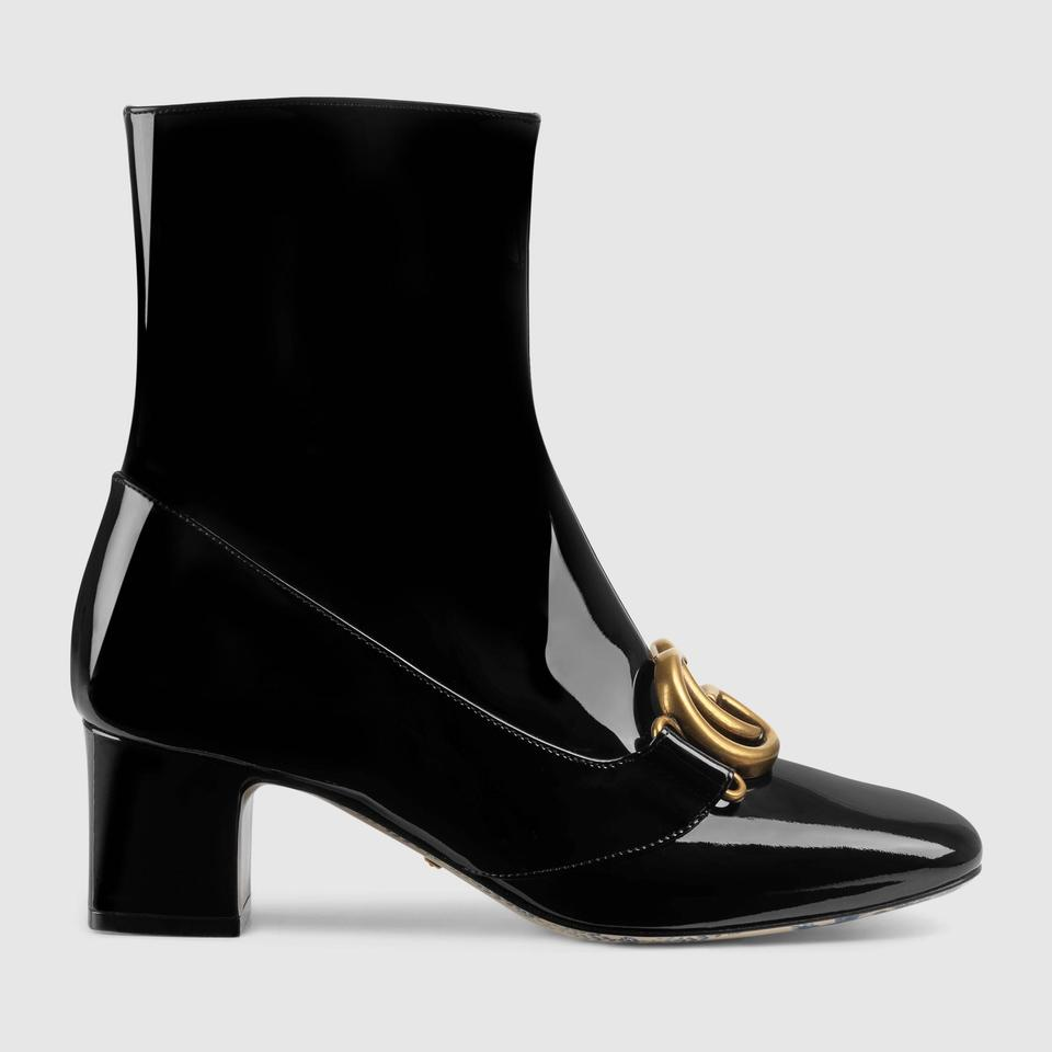 3f4199995 Gucci Black Marmont Patent Leather Gg Ankle It Boots/Booties. Size: EU ...