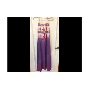 purple print Maxi Dress by Debbie Katz