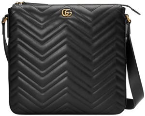 Gucci Marmont Gg Black Messenger Bag