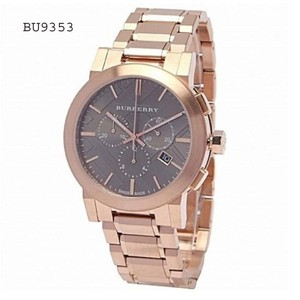 Burberry Burberry Men's Swiss Chronograph Dial Rose Gold Plated Watch BU9353