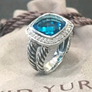 David Yurman David Yurman Albion Blue Topaz Diamond Ring