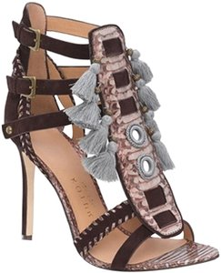 Kotur brown with gray snake skin Pumps