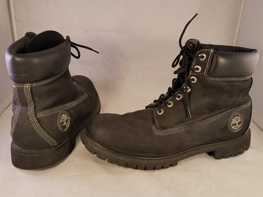 timberland Man Size 13 M Premium Leather black Boots Image 4