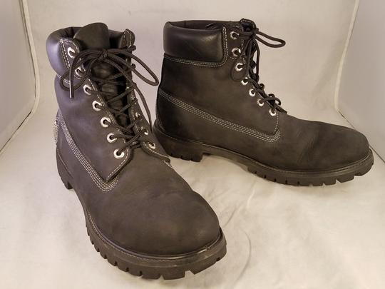 timberland Man Size 13 M Premium Leather black Boots Image 1