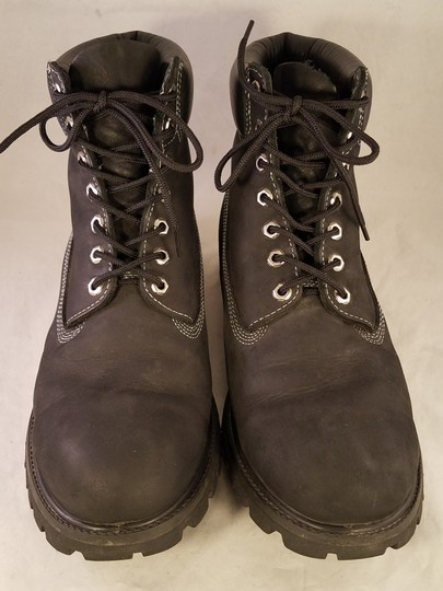 timberland Man Size 13 M Premium Leather black Boots Image 2
