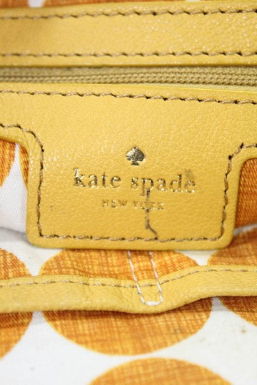 Kate Spade Chrome Hardware Mint Condition Size True Opening Satchel in yellow leather with hard wood frame and kiss closure Image 5