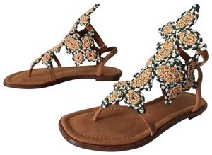 Tory Burch Palisade Twisted Rope Butterfly Appliques Multicolor Sandals
