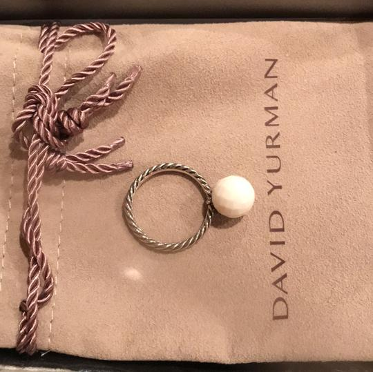 David Yurman small cable ring with white agate Image 2