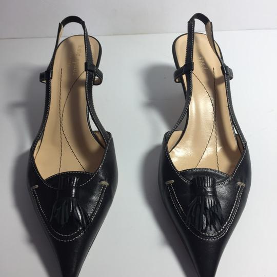 Kate Spade Leather Kitty Black Pumps Image 1