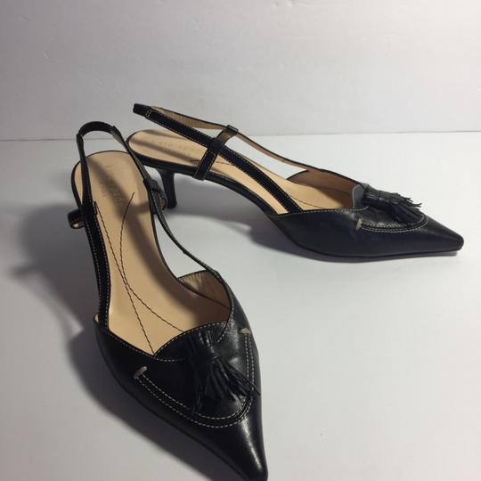 Kate Spade Leather Kitty Black Pumps Image 2