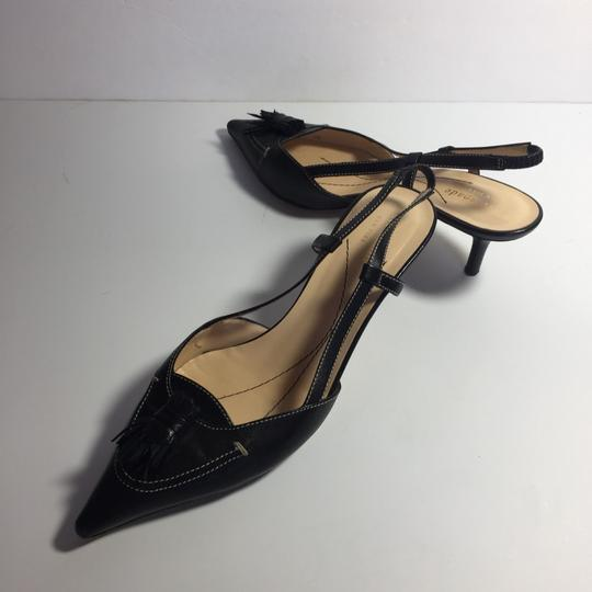 Kate Spade Leather Kitty Black Pumps Image 4