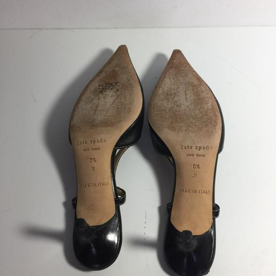 Kate Spade Leather Kitty Black Pumps Image 5