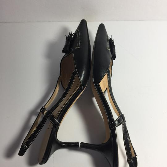 Kate Spade Leather Kitty Black Pumps Image 6