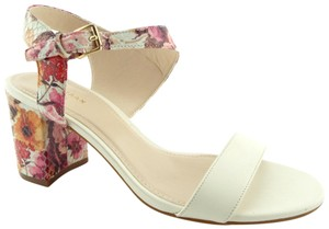 Cole Haan Elva Rose Flower White Pink Floral Ivory Sandals