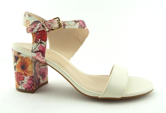 Cole Haan Elva Rose Flower White Pink Floral Ivory Sandals Image 1