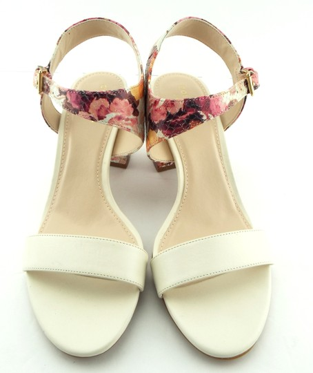 Cole Haan Elva Rose Flower White Pink Floral Ivory Sandals Image 2