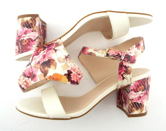 Cole Haan Elva Rose Flower White Pink Floral Ivory Sandals Image 3