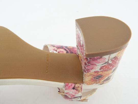 Cole Haan Elva Rose Flower White Pink Floral Ivory Sandals Image 6
