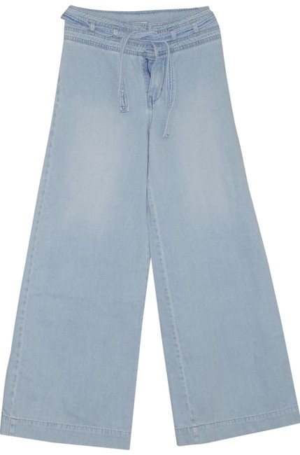 Item - Blue Acid Agusta Belted Flare High Rise Trouser/Wide Leg Jeans Size 27 (4, S)