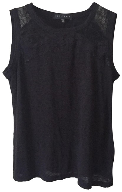 Preload https://img-static.tradesy.com/item/24476467/anthropologie-sanctuary-black-lace-sleeveless-linen-tee-shirt-size-2-xs-0-1-650-650.jpg