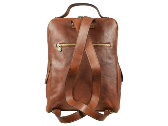 Time Resistance Leather Leather Backpack Image 1