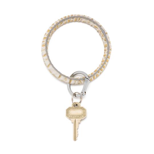 Lady Lux LUXE GOLD RUSH CROC KEY RING Image 2