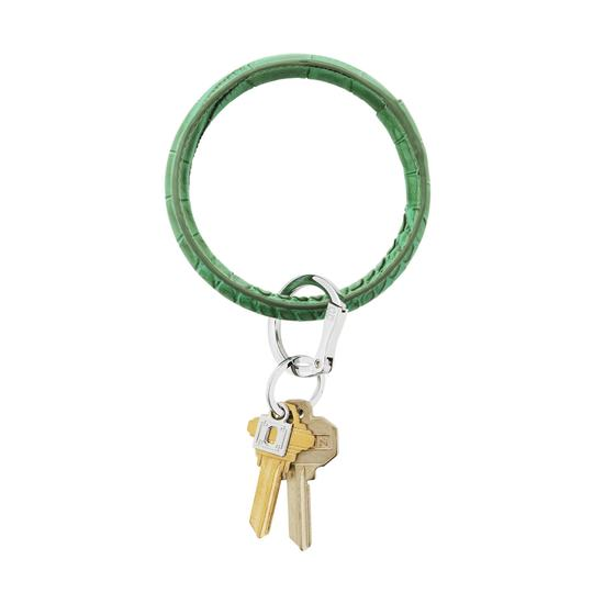 Lady Lux LUXE EMERALD CROC LEATHER KEY RING Image 2