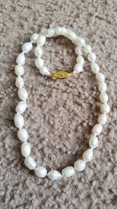 """Fashion Jewelry For Everyone White 7-8mm Akoya Baroque Pearl 14k Gold Filled Clasp 18"""" Necklace"""