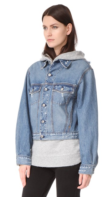 IRO Isabel Marant Elizabeth And James Haute Hippie Dvf Rag & Bone Blue Jacket Image 6