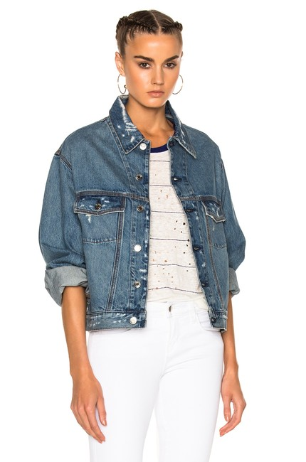IRO Isabel Marant Elizabeth And James Haute Hippie Dvf Rag & Bone Blue Jacket Image 9