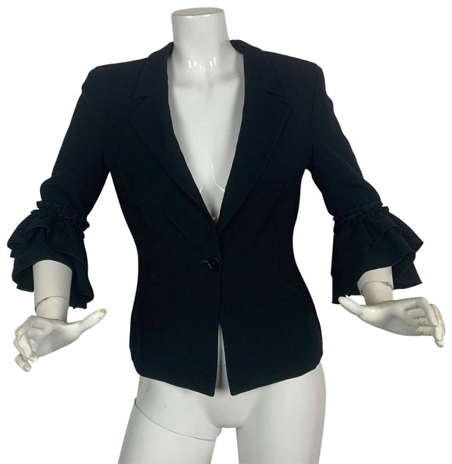 Preload https://img-static.tradesy.com/item/24476704/emporio-armani-black-34-sleeves-ruffled-career-blazer-size-8-m-0-1-650-650.jpg
