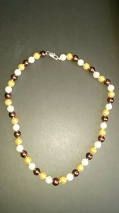 """Mother of Pearl Mix 8mm Multicolor South Sea Shell 18"""" Necklace"""