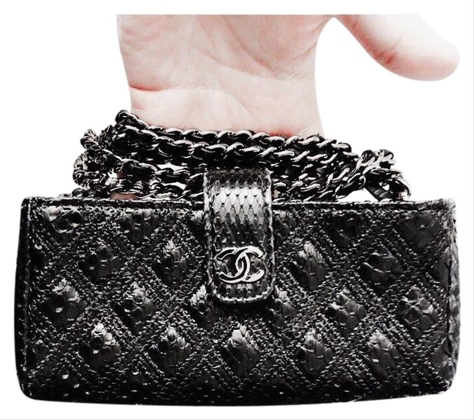 06dc066527a40d Chanel Clutch Exotic Leather Black Cross Body Bag - Tradesy