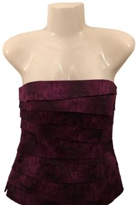White House | Black Market Strapless Animal Print Top Purple