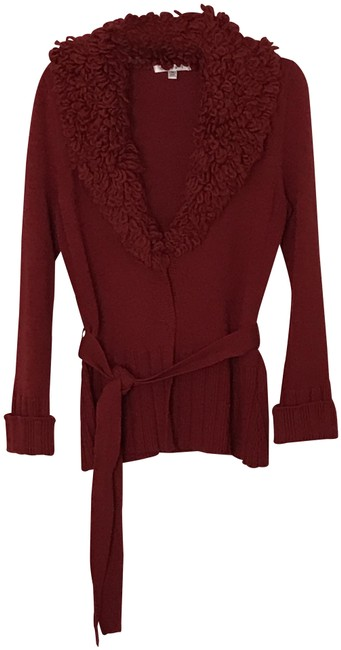 Item - Red Belted Cardigan Size 8 (M)