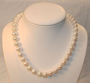 Mother of Pearl White 10 Mm South Sea Shell 18incs Long Necklace