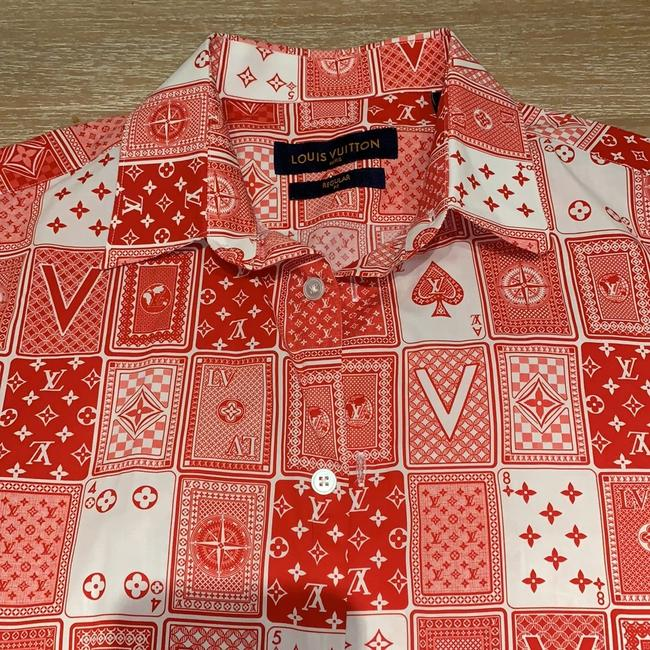 Louis Vuitton Button Down Shirt Red Image 5