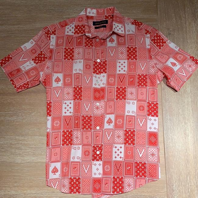 Louis Vuitton Button Down Shirt Red Image 6