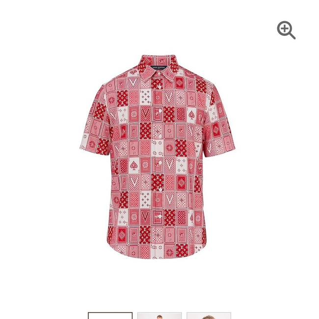 Louis Vuitton Button Down Shirt Red Image 7