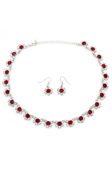 Preload https://img-static.tradesy.com/item/24476970/silver-classic-red-crystal-earrings-set-necklace-0-0-540-540.jpg