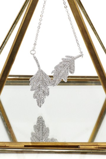 Ocean Fashion Sterling silver Fashion crystal leaf clavicle necklace Image 2