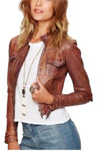Blur Leather brown Leather Jacket