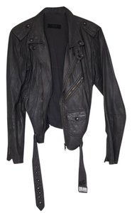 S.w.o.r.d silver Leather Jacket