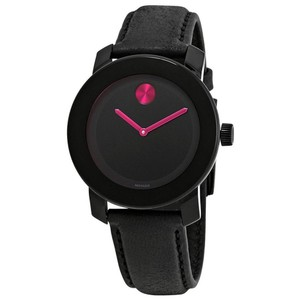 Movado Bold Ladies Leather Watch