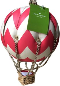 Kate Spade Hot Air Balloon Leather Wristlet in Pink/White