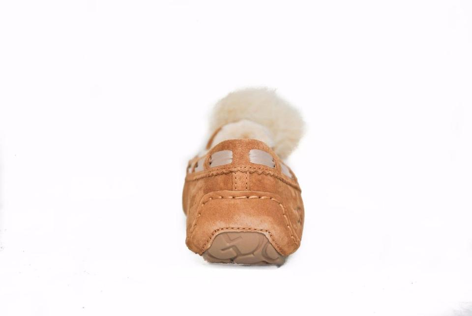 08309fbcd7 UGG Australia Chestnut Women s Dakota Pom Pom Moccasin Slippers 1019015  Boots Booties