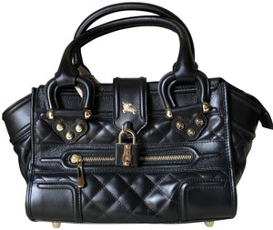 Burberry Leather Quilted Satchel in Black