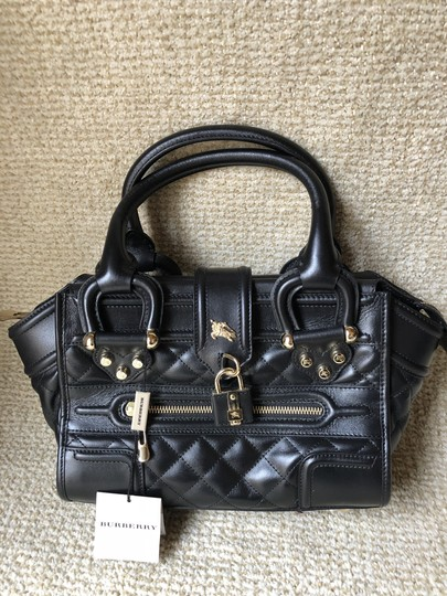 Burberry Leather Quilted Satchel in Black Image 1