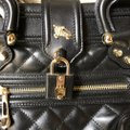 Burberry Leather Quilted Satchel in Black Image 3